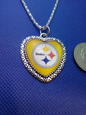 Pittsburgh Steelers Big Heart Necklace for Sale in Columbus, OH