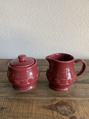 Longaberger Woven Traditions Sugar and Creamer for Sale in Visalia, CA