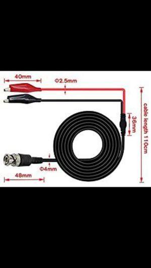 Amadget BNC Q9 - Cable de prueba con pinza de cocodrilo para pruebas de osciloscopio for Sale in Monrovia, CA
