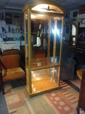 Collector's Display cabinet w/lights & glass shelves. for Sale in San Jose, CA