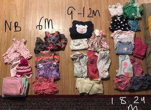 Baby Girl Clothes NB, 6M, 9M, 12M, 18M, 24M for Sale in Fremont, CA