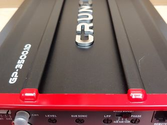 Car Amplifier : Brand New CRUNCH 3500 Watts 1 ohm monoblock Class D Built in Crossover 30a×2 fuses With Bass Control ( Brand New In Box Never Opened ) for Sale in Bell Gardens,  CA