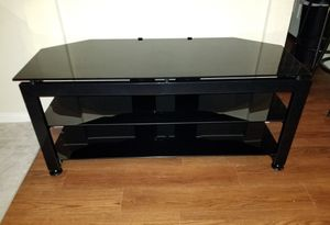 TV Stand Black Glass with metal frame for Sale in Houston, TX