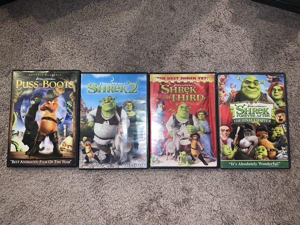 Shrek Movie Lot + Puss in Boots