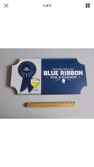 Used, Pabst Blue Ribbon PBR Wooden Beer Sign Badge for Sale for sale  Chino Hills, CA