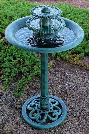 Antique 3 Tier Fountain Bird Bath With Pump Water Ornament Garden Yard Outdoor for Sale in Renton, WA