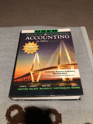 Financial & Managerial Accounting for Sale in Cypress, CA