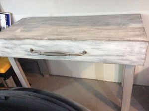 RUSTIC KITCHEN ISLAND, GARAGE WORK BENCH OR PROJECT TABLE WITH TOWEL BAR for Sale in Mooresville, NC