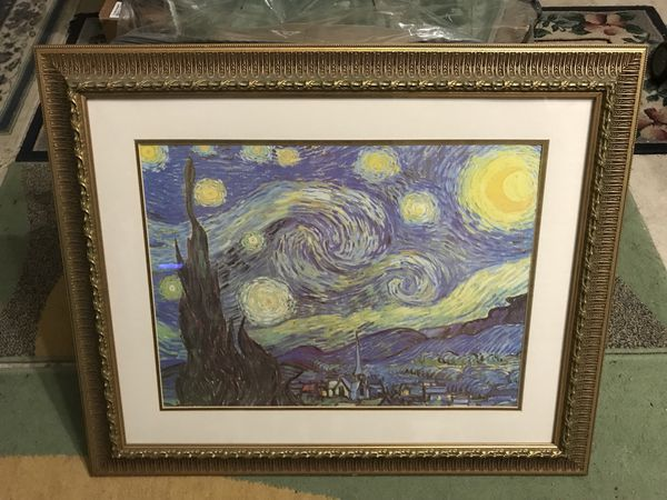 Starry Night by Vincent Van Gogh Framed Painting Print
