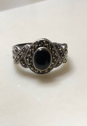 Sterling sliver onyx stone ring for Sale in Las Vegas, NV