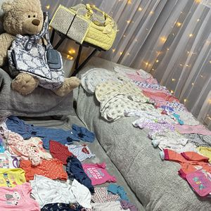 Newborn Clothes 83 Piece Clothing Lot & 2 Large Diaper Bags for Sale in Brooklyn Park, MD