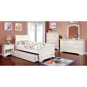 4PC WHITE TWIN BEDROOM SET for Sale in Turlock, CA