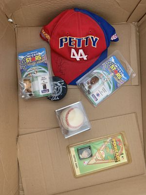 box full of sports historical and disney collectibles..price is for entire box for Sale in Hickory Creek, TX