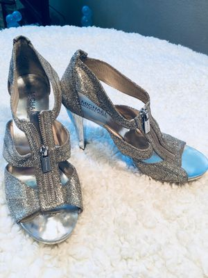 Michael Kors silver tone shoes for Sale in Denver, CO