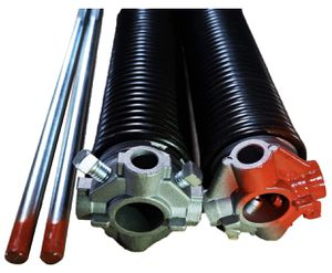 Garage Door Torsion Springs 2'' (Pair) with Non-Slip Winding Bars, Coated Torsion Springs with a Minimum of 10,000 Cycles for Sale in Las Vegas, NV