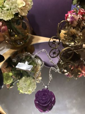 Pretty! Purple Rose Fun Necklace for Sale in Gainesville, VA