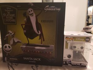 EXCLUSIVE The nightmare before christmas Santa Jack and Zero for Sale in Pomona, CA