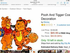 Halloween disney,rigger and pooh lighted decoration.brand new in box.amazon selling for 65 or more. for Sale in Jersey Shore, PA