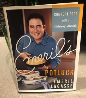 Hardback Book w/ Sleeve- Emeril Lagasse Potluck recipes for Sale in Overbrook, WV