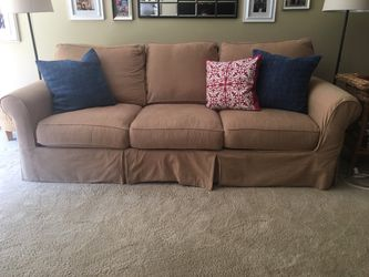 Arhaus slipcovered sleeper sofa for Sale in Dublin,  OH