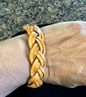 New! Genuine leather braided bracelet. Fits sm/med. size wrist. for Sale in Tolleson, AZ