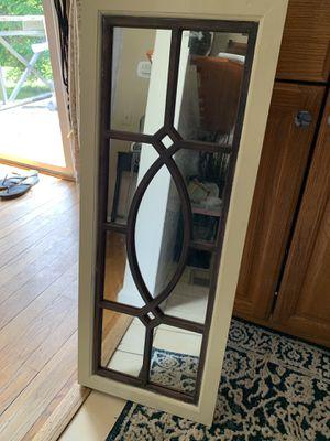 Wood window mirror for Sale in Lorton, VA