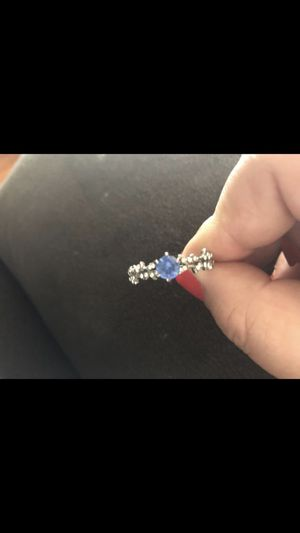 Blue diamond Sterling Silver Leaf ring for Sale in Hinton, WV