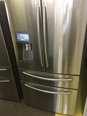 Samsung Stainless Steel 4 Door Refrigerador With Warranty No Credit Needed Just $54 De Enganche You Take Home for Sale in Garland, TX