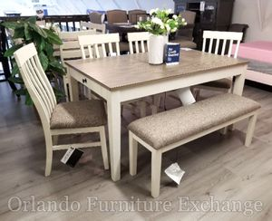 $679 WE DELIVER! BRAND NEW DINING SET WITH BENCH for Sale in Oviedo, FL
