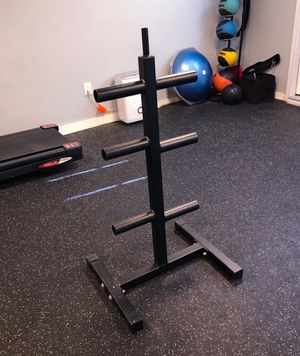 """Heavy Duty 2"""" Olympic Weight Tree Rack for Sale in Richardson, TX"""