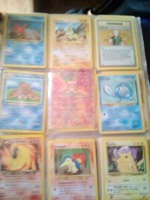 Pokemon card collection binder with some decent cards and in good shape for Sale in Apple Valley, CA