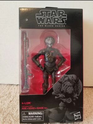 Star Wars Black Series Bounty Hunter 4-Lom Collectible Action Figure Toy for Sale in Chicago, IL