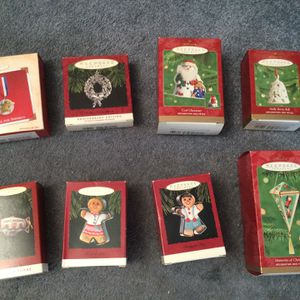 Lot Of 8 Hallmark Keepsake Ornaments - selling Together For $35.00 for Sale in Bonney Lake, WA