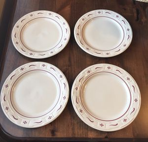 Longaberger Set of 4 Traditional Red Dinner Plates for Sale in Washington, DC