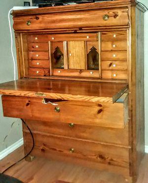 Solid Wood Vintage Secretary Desk for Sale in San Antonio, TX