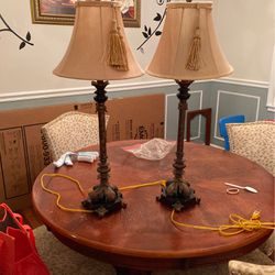 2 Beautiful Table Lamps Marble Base for Sale in Alexandria,  VA