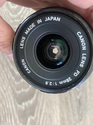 Vintage canon film camera 28mm f/2.8 for Sale in Encinitas, CA