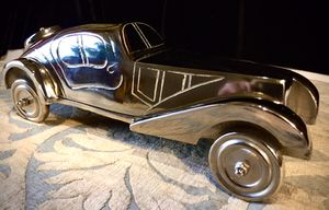 Modern decorative stainless steel cast art sculpture Old Timer Car L12xW5xH4 inch for Sale in Chandler, AZ