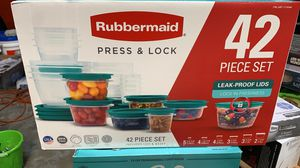 Rubbermaid Press & Lock Easy Find Lids Food Storage Containers, 42-Piece Set for Sale in Houston, TX