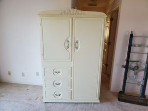 Antique Solid Wood Dresser Armoire. Free Local Delivery - $149 for Sale in Fresno, CA