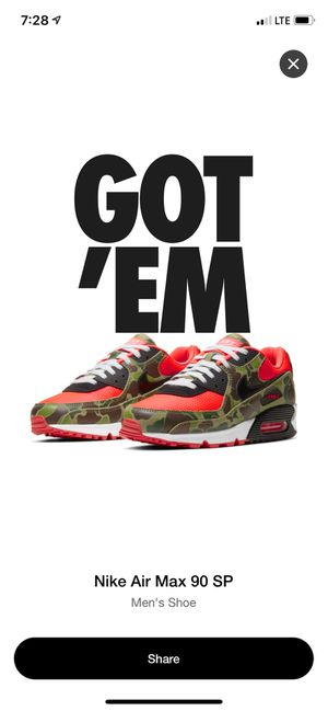 """Air Max 90 """"Reverse Camo"""" Mens Size 12 for Sale in Riverside, CA"""