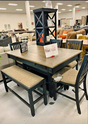 Free Delivery 🐋  BEST Deal 🐋 Tyler Creek Black/Gray Dining Room Set 183 for Sale in Houston, TX