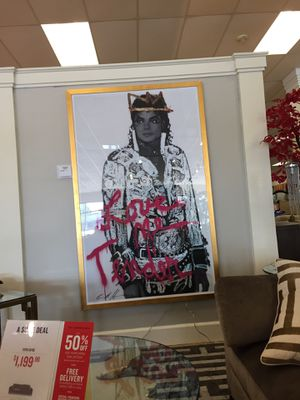 Love me Tender Micheal framed art. New . Never hung . From American signature furniture . $199 for Sale in Decatur, GA