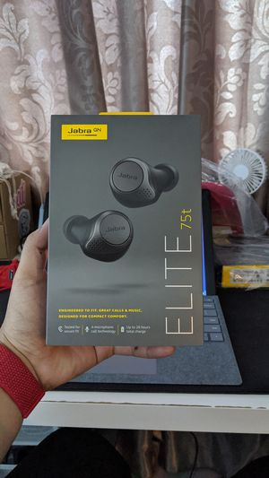 NEW Jabra Elite 75T Earbuds - Titanium Black - SEALED - FREE SHIP for Sale in Dallas, TX