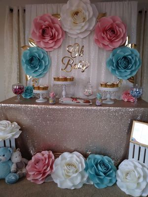 Gender Reveal Baby Shower Decorations for Sale in Rosemead, CA
