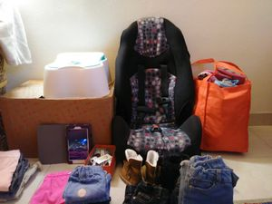 Girl clothes and shoes, car seat, potty for Sale in Cocoa, FL