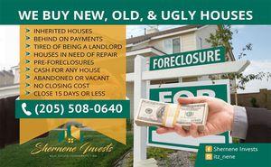 I pay cash for houses (custom flyers) for Sale in Birmingham, AL