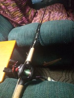 Okuma celilo fishing rod and Abu Garcia black max fishing reel for Sale in Vancouver, WA