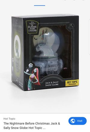 Nightmare Before Christmas Snowglobe for Sale in Lake View Terrace, CA