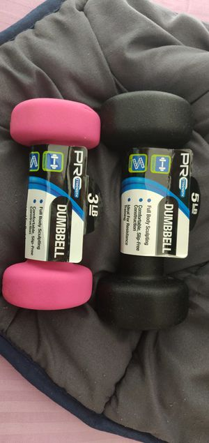 Dumbbells 5 lbs + 3 lbs NEW for Sale in St. Louis, MO